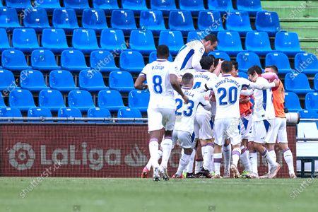 Jose Luis Garcia del Pozo, Recio celebrates after scoring goal during the La Liga match between Getafe FC and SD Eibar at Coliseum Alfonso Perez stadium on May 09, 2021 in Getafe, Spain.