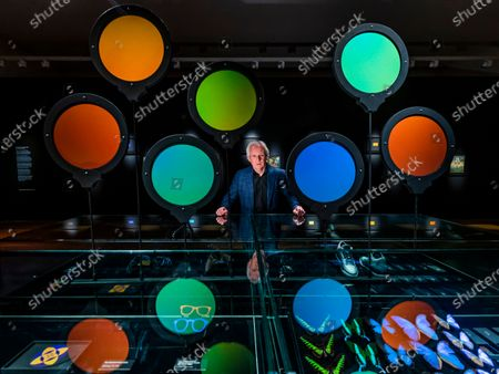 Andrew Parker with his work, which forms part of Naturally Brilliant Colour. A new exhibition, at Kew Gardens, displaying Pure Structural Colour - the boldest, brightest colour on Earth. Replicating the most vivid shades found in the natural world, Naturally Brilliant Colour includes works from artists including Robert John Thornton, Julia Trickey and Coral G Guest. The exhibition runs from Monday 17 May - Sunday 26 September 2021, at the Shirley Sherwood Gallery of Botanical Art.