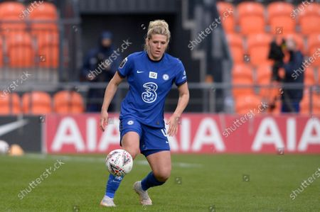 Millie Bright Chelsea Women in action during WomenÕs Super League match between Tottenham Hotspur Women and Chelsea Women at The Hive Stadium in London - 5th May 2021