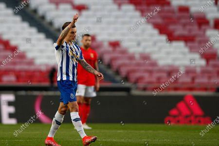 Mateus Uribe celebrates his goal during the Liga NOS match between Benfica and FC Porto at Estadio da Luz, Benfica