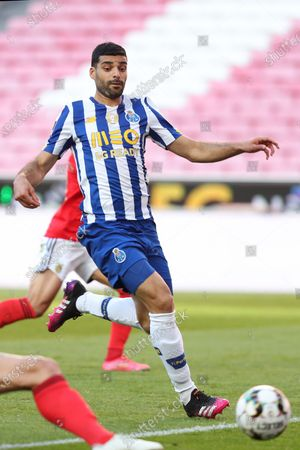 Mehdi Taremi of FC Porto in action during the Portuguese League football match between SL Benfica and FC Porto at the Luz stadium in Lisbon, Portugal on May 6, 2021.
