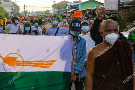 Editorial image of Protest in Myanmar against Military Coup, Mandalay, Myanmar - 06 May 2021