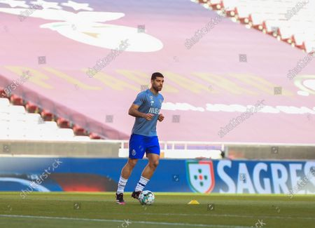 Mehdi Taremi of FC Porto during pre match of Liga NOS match between SL Benfica and FC Porto at Estadio da Luz on May 6, 2021 in Lisbon, Portugal.