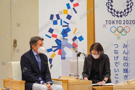 Lord Sebastian Coe President of World Athletics listens opening remarks