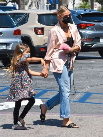 Ashlee Simpson and her daughter Jagger Snow Ross