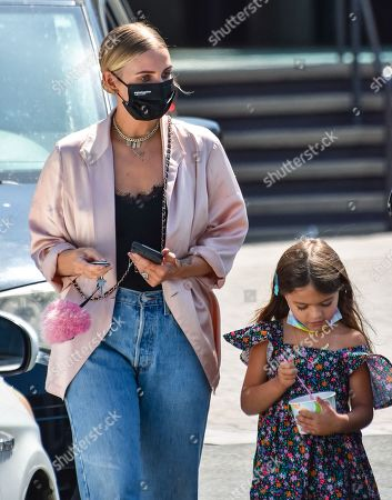 Stock Picture of Ashlee Simpson and her daughter Jagger Snow Ross