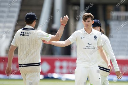 Martin Andersson, Middlesex CCC makes the breakthrough with Taylor caught behind during Middlesex CCC vs Gloucestershire CCC, LV Insurance County Championship Group 2 Cricket at Lord's Cricket Ground on 7th May 2021