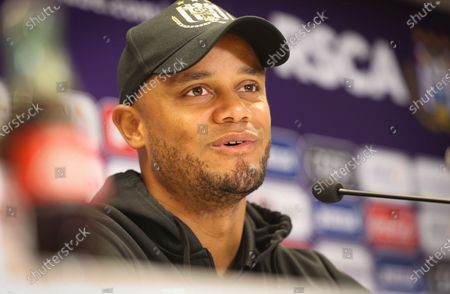 Anderlecht's head coach Vincent Kompany pictured during a press conference of Belgian soccer team RSC Anderlecht in Brussels, Friday 07 May 2021, ahead of their next game in the 'Jupiler Pro League' Belgian soccer championship.