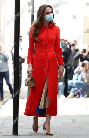 Catherine Duchess of Cambridge visit to the National Portrait Gallery Archive, London