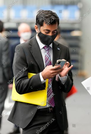 Stock Image of Humza Yousaf SNP Cabinet Secretary for Justice at the Scottish Election 2021 count.