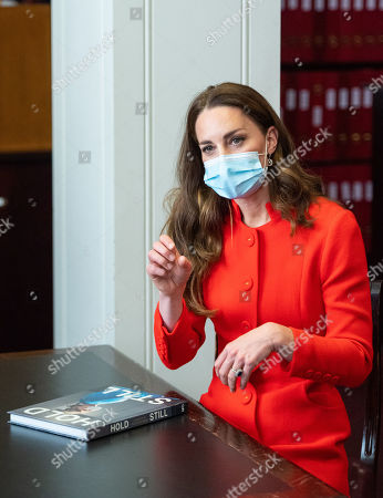 Editorial image of Catherine Duchess of Cambridge visit to the National Portrait Gallery Archive, London, UK - 07 May 2021