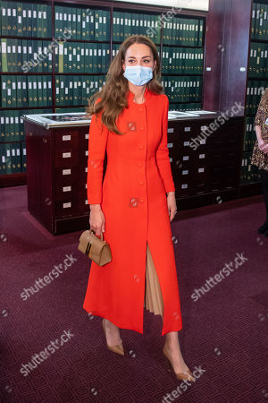 Editorial picture of Catherine Duchess of Cambridge visit to the National Portrait Gallery Archive, London, UK - 07 May 2021