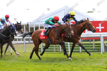 Grove Ferry and David Probert [near] wins the tote+Placepots Pay More Earl Grosvenor Handicap at Chester from Dulas.