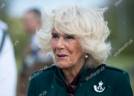 Camilla Duchess of Cornwall, Colonel-in-Chief,The Rifles,will undertake her first visit to 5thBattalion The Rifles, following her new appointment asColonel-in-Chief.  Her Royal Highness will be greeted with a Royal Fanfare on arrival at the barracks.The Duchess will then receive a short private briefing by The Commanding Officer,Lieutenant ColonelJim Hadfield MBE. The Duchess will then meet with Riflemen and their familiesat a small reception (outside).During the reception Her Royal Highnesswill meet Riflemen who have recentlyreturned from Estonia(Operation CABRIT 7) and other Riflemen and families that remained in the UK over the tour.This group were instrumental in the success of the Battalion in Estonia, providing unwavering support.The Duchesswill also present a small numberof non-operational medals.Following the reception, The Commanding Officerwill say a few words before Her Royal Highness departs.