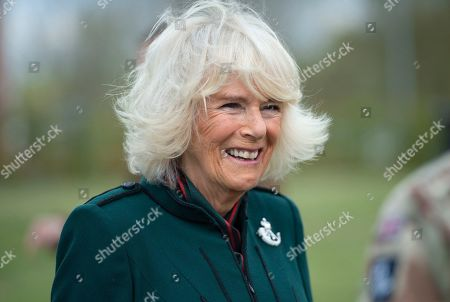 Editorial picture of Camilla Duchess of Cornwall visit to 5th Battalion The Rifles, UK - 07 May 2021