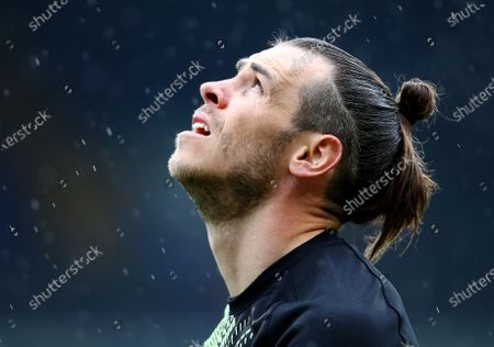Gareth Bale of Tottenham Hotspur ahead of the game