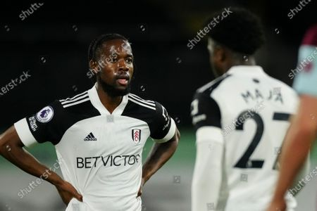 Josh Onomah of Fulham reacts during play