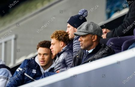 Les Ferdinand QPR Director of Football watches the match from the stands
