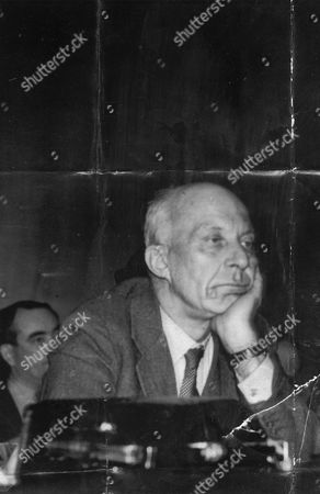 Edward Hugh John Neale Dalton The Right Honourable The Lord Dalton (chancellor Of The Duchy Of Lancaster Chancellor Of The Exchequer) Died 13/02/1962 At The Age Of 75. Baron Dalton Is Seen At The Labour Party Conference In Morecambe.