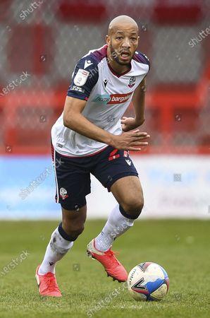 Stock Photo of Alex John-Baptiste of Bolton Wanderers