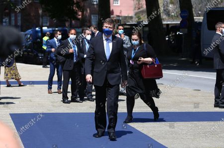 European Executive Vice President Valdis Dombrovskis arrives at Social Summit, in Porto, Portugal, May 7, 2021. The Summit will pay particular attention to the areas of Employment, Equal Opportunities, Inclusion, Social Protection and Health.