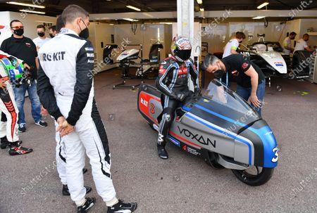 Stock Image of Edoardo Mortara (CHE), Venturi Racing, and Max Biaggi during the 2021 Formula E Round 7 - Monaco E-Prix