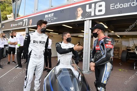 Norman Nato (FRA), Venturi Racing, Edoardo Mortara (CHE), Venturi Racing, with Max Biaggi during the  Formula E Round 7 - Monaco E-Prix