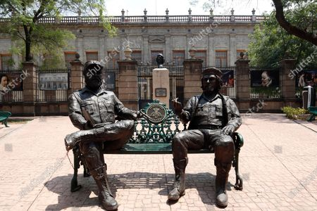 Editorial picture of Che Guevara And Fidel Castro Statues In Mexico, Mexico City - 06 May 2021