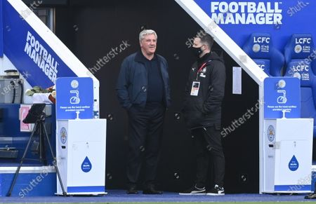Newcastle's manager Steve Bruce ahead of the English Premier League soccer match between Leicester City and Newcastle United in Leicester, Britain, 07 May 2021.