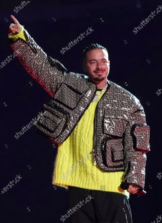 """Balvin performs at """"Vax Live: The Concert to Reunite the World"""", at SoFi Stadium in Inglewood, Calif"""