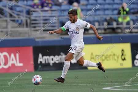 Los Angeles Galaxy midfielder Jonathan dos Santos during an MLS soccer match against the Seattle Sounders, in Seattle