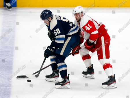 Editorial image of Red Wings Blue Jackets Hockey, Columbus, United States - 07 May 2021
