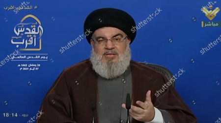 Editorial picture of Sayyed Hassan Nasrallah speech, Beirut, Lebanon - 07 May 2021