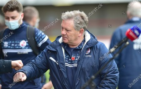 Crawley manager John Yems before the Sky Bet League Two match between Crawley Town and Bolton Wanderers at the People's Pension Stadium  , Crawley ,  UK - 8th May 2021