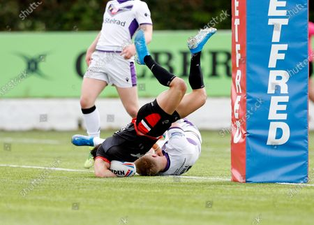 Editorial photo of London Broncos v Newcastle Thunder, Rugby League Betfred Championship, Trailfinders Sports Ground, London, UK - 09 May 2021