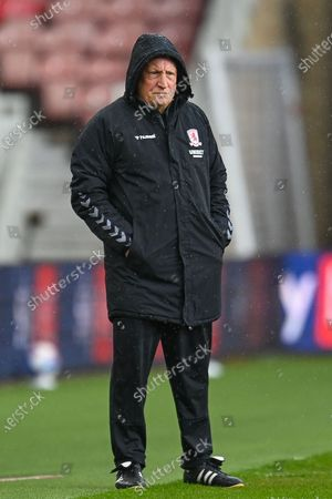 Middlesbrough Manager, Neil Warnock during the EFL Sky Bet Championship match between Middlesbrough and Wycombe Wanderers at the Riverside Stadium, Middlesbrough