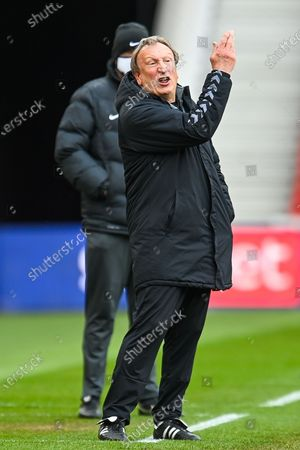 Middlesbrough Manager, Neil Warnock gestures during the EFL Sky Bet Championship match between Middlesbrough and Wycombe Wanderers at the Riverside Stadium, Middlesbrough