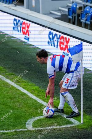 Lee Wallace of QPR prepares to take a corner