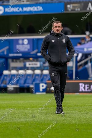 Luton Town Manager Nathan Jones at the EFL Sky Bet Championship match between Queens Park Rangers and Luton Town at the Kiyan Prince Foundation Stadium, London