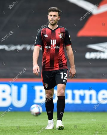 Stock Photo of Shane Long (12) of AFC Bournemouth during the EFL Sky Bet Championship match between Bournemouth and Stoke City at the Vitality Stadium, Bournemouth