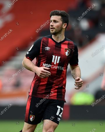 Shane Long (12) of AFC Bournemouth during the EFL Sky Bet Championship match between Bournemouth and Stoke City at the Vitality Stadium, Bournemouth