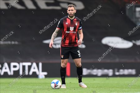 Stock Photo of Steve Cook (3) of AFC Bournemouth during the EFL Sky Bet Championship match between Bournemouth and Stoke City at the Vitality Stadium, Bournemouth