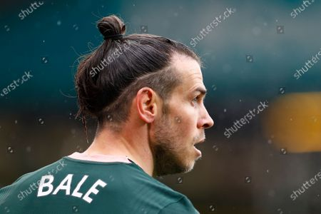 Tottenham's Gareth Bale during the English Premier League soccer match between Leeds United and Tottenham Hotspur in Leeds, Britain, 08 May 2021.