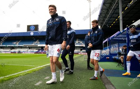 Stock Image of Commercial and Marketing Rob Dickie of QPR, Lee Wallace of QPR, Tom Carroll of QPR and Niko Hamalainen of QPR during warms up