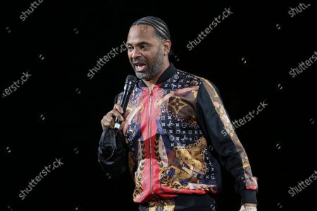 Stock Image of Mike Epps Performs at The In Real Life Comedy Tour at State Farm Arena, in Atlanta