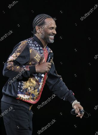 Stock Photo of Mike Epps Performs at The In Real Life Comedy Tour at State Farm Arena, in Atlanta