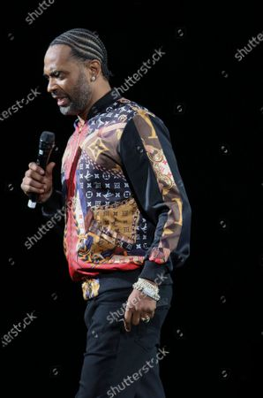Stock Picture of Mike Epps Performs at The In Real Life Comedy Tour at State Farm Arena, in Atlanta