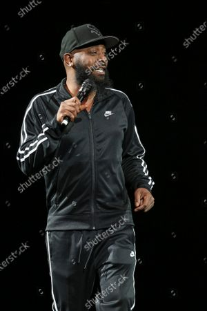 Karlous Miller Performs at The In Real Life Comedy Tour at State Farm Arena, in Atlanta