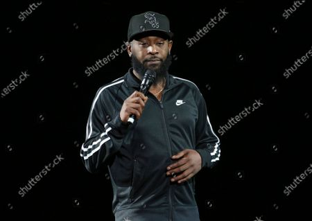 Stock Image of Karlous Miller Performs at The In Real Life Comedy Tour at State Farm Arena, in Atlanta