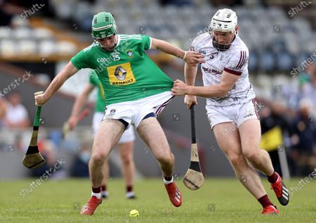 Westmeath vs Galway. Westmeath's Shane Williams and Johnny Coen of Galway